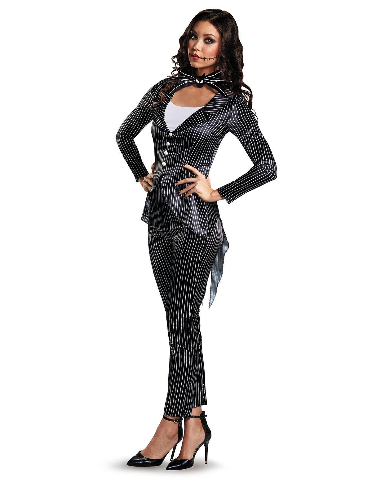 Disney Women's Jack Skellington Deluxe Adult Costume, Multi, Small
