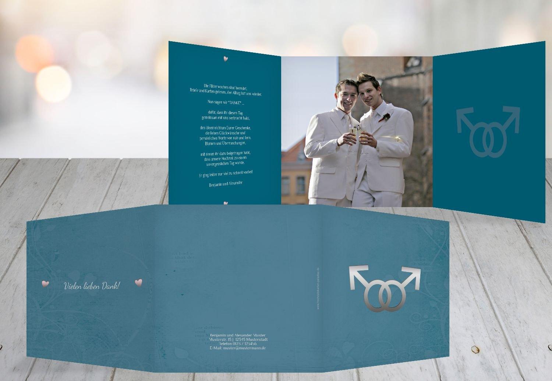 Kartenparadies Danksagung für Hochzeitsgeschenke Danke Im Zeichen der Liebe - Männer, hochwertige Danksagungskarte Hochzeitsglückwünsche inklusive Umschläge   10 Karten - (Format  145x145 mm) Farbe  dunkelOrange B01N24W0OF | Elega