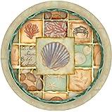 Thirstystone Stoneware Coaster Set, Nautical Patchwork