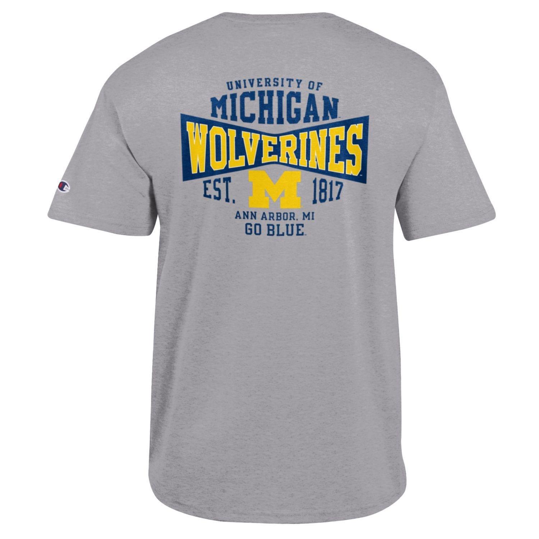 Champion NCAA Michigan State Spartans Mens Mens Flexbone Short Sleeve T-Shirt Medium Grey