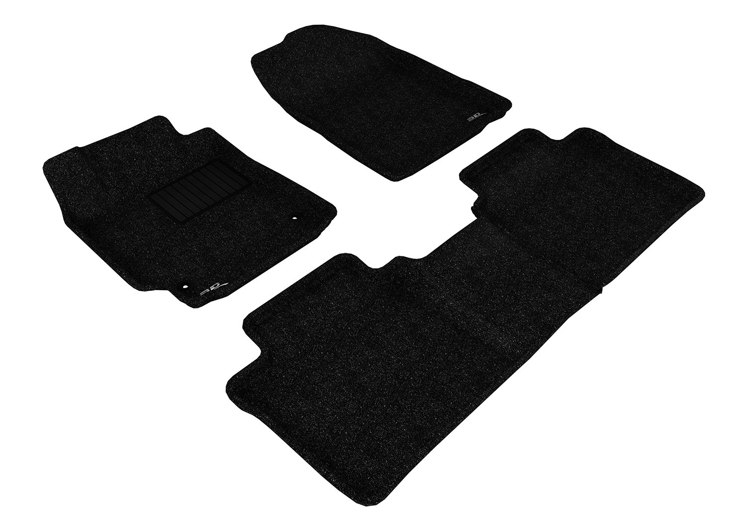 3D MAXpider Complete Set Custom Fit Floor Mat for Select Toyota Camry Models L1TY00402201 Classic Carpet Gray