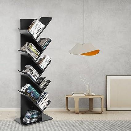JOO LIFE 9 Shelf Tree Bookshelf Book Rack Bookcase Display Storage Furniture Organizer Freestanding Bookshelves For