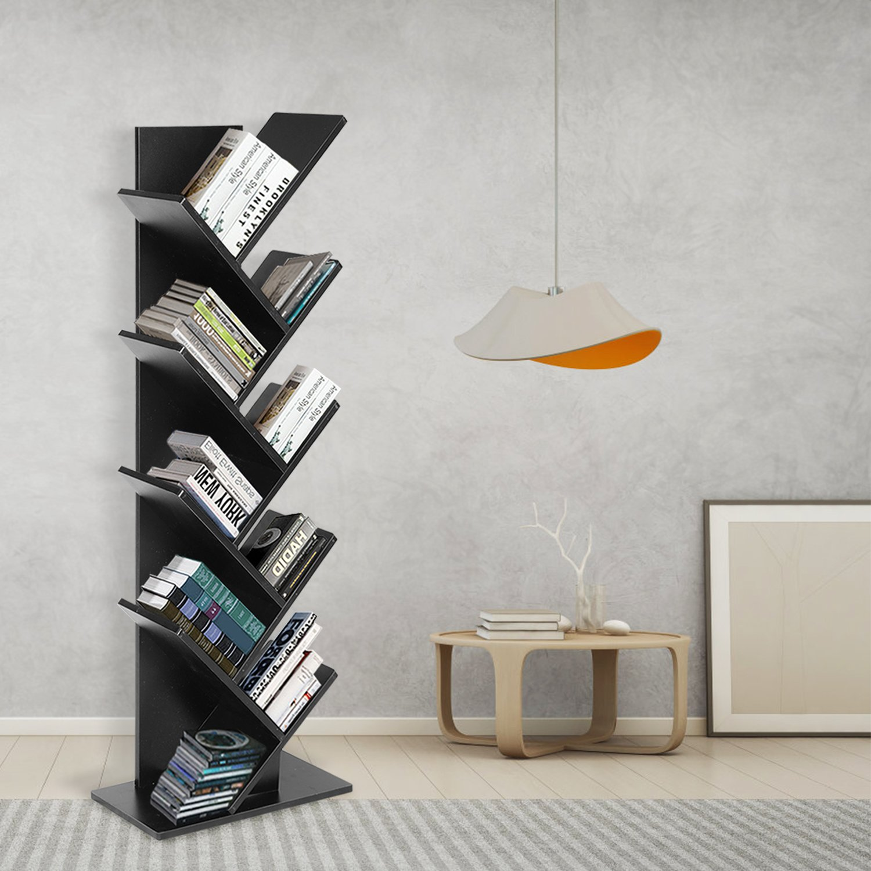 9 Shelf Tree Shaped Book Case Book Shelf Book Rack Display Storage Organizer Freestanding Bookshelves For CDs Movies & Books