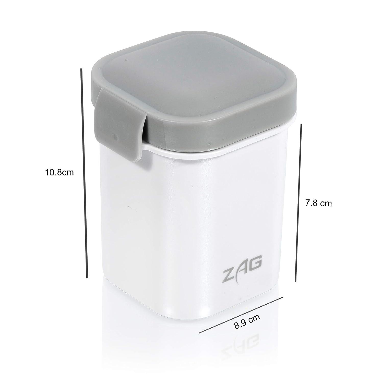 sin BPA para microondas 2 compartimentos-perfecta para sopa y comida-bolsa fr/ía Fiambrera isot/érmica con antigoteo de marca japonesa de pl/ástico gris-cubiertos incluidos