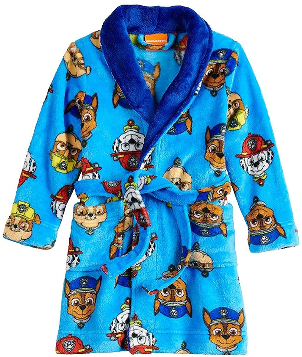 Robe American Marketing Paw Patrol Character Toddler Boys Luxe Fleece and Sherpa Bathrobe