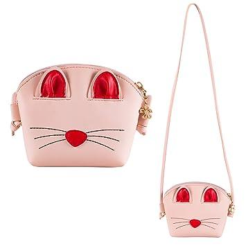 4214fd6da77d Buy Deoot Pink Little Girls Crossbody Purse Cute Cat Shoulder Bag for Girls