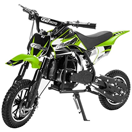 XtremepowerUS 49CC 2-Stroke Gas Power Mini Pocket Dirt Bike Dirt Off Road  Motorcycle Ride-on Motor Cycle (Green)