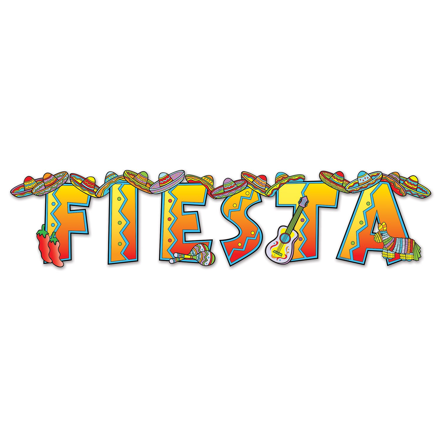 Fiesta Streamer Party Accessory (Value 2-Pack) by Beistle