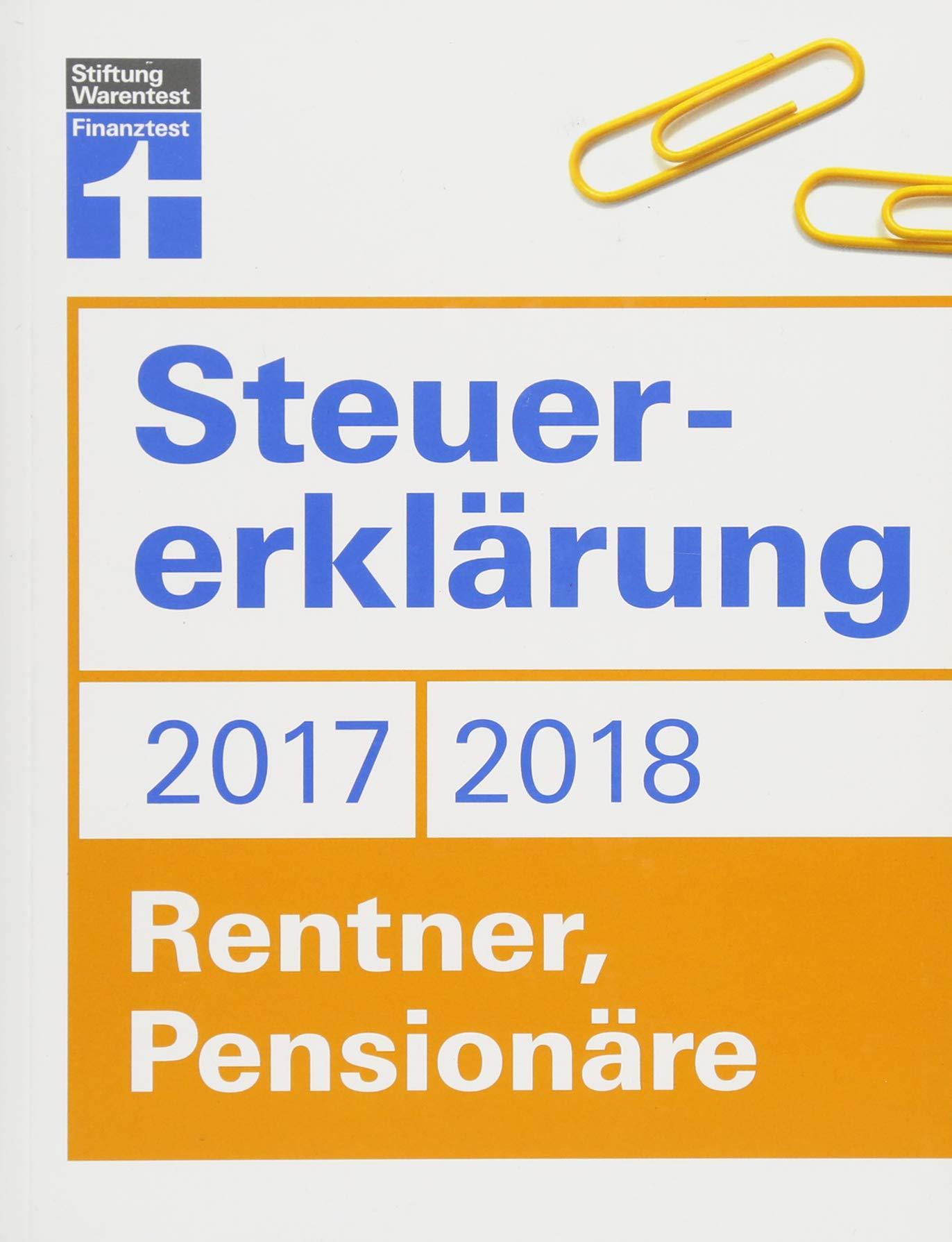 Steuererklärung 2017/2018 - Rentner, Pensionäre: Steuern sparen im Ruhestand