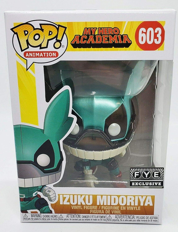 Izuku Midoriya POP Funko My Hero Academia 603 Deku with Helmet Metallic Special Edition