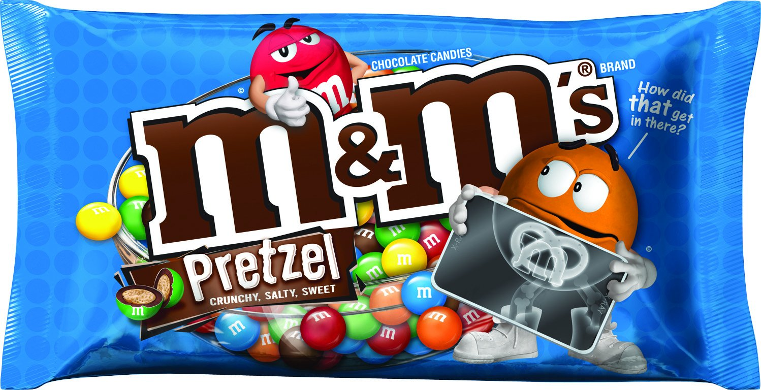 Amazon.com : M&M'S Pretzel Chocolate Candy 9.9-Ounce Bag (Pack of ...