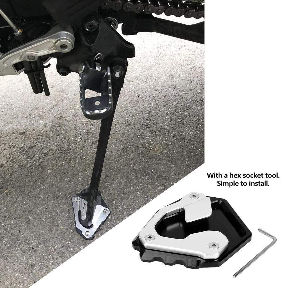 KSTE CNC Aluminum Side Stand Extension Foot Plate Anti-slip Pad Compatible with CRF1000L Africa Twin