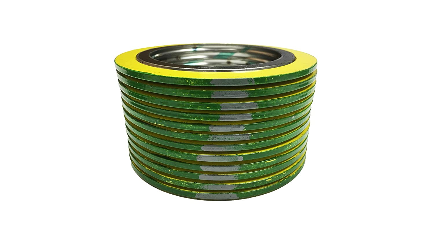 of NJ green Band with Grey Stripes Pack of 12 for 2 Pipe Supplied by Sur-Seal Inc Sterling Seal 90002316GR1500X12 316L Stainless Steel spiral Wound Gasket with Flexible Graphite Filler for 2 Pipe Pressure Class 1500# QTY: 12