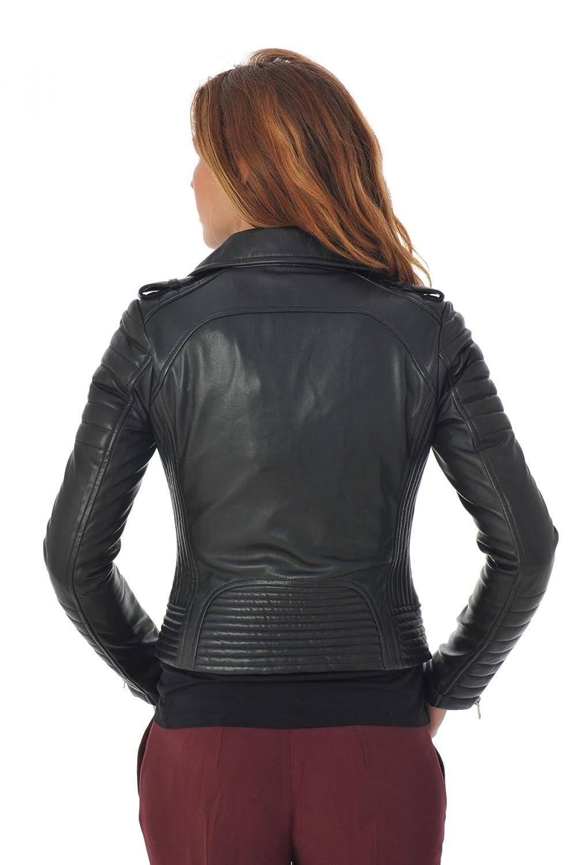 Leather Lifestyle Womens Lambskin Leather Biker Motorcycle Stylish 100/% Real Black Jacket #WJ32