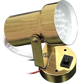 RV LED SWIVEL BRASS READING LIGHT INTERIOR ACCESSORY
