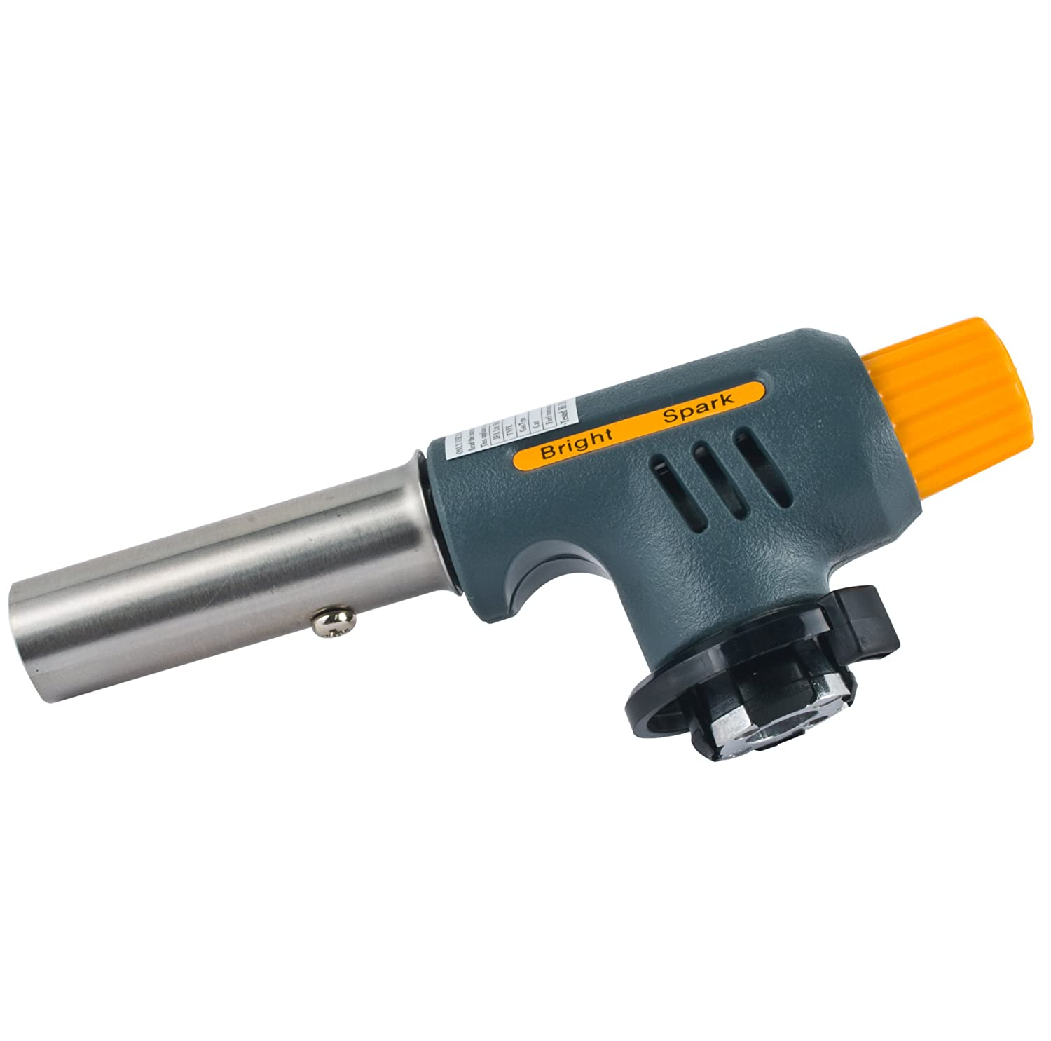 Bright Spark 1-Piece 12 x 4.5 x 6 cm Catering Blowtorch,Grey BS1256