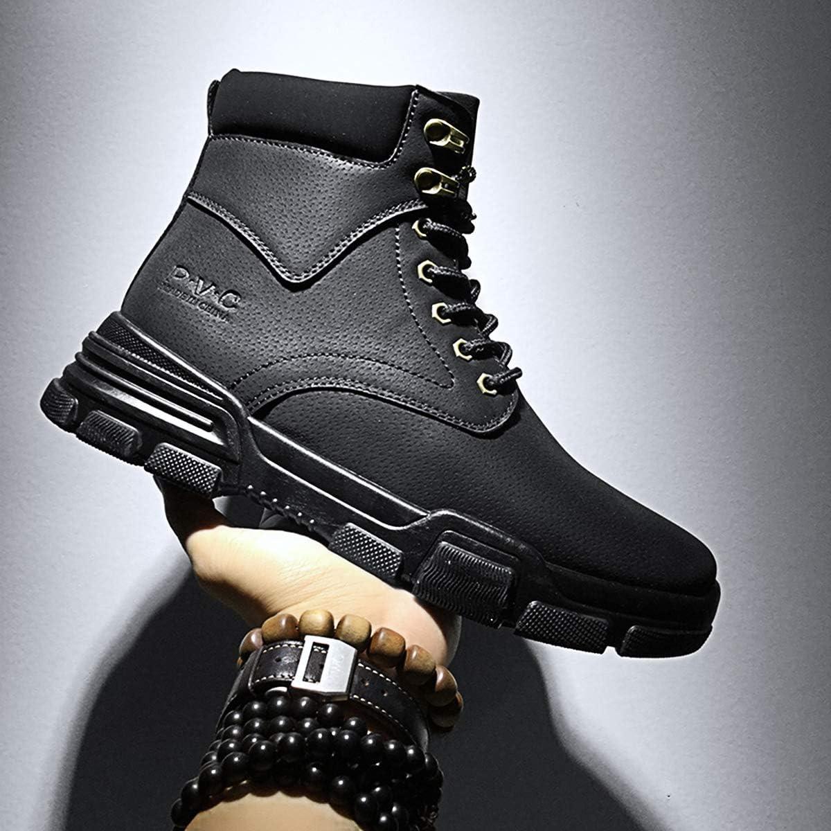 LCXAX Homme Bottes Randonnee Chaudement Baskets Étanche Mode Courts Plats Bottines Ville Chaussures