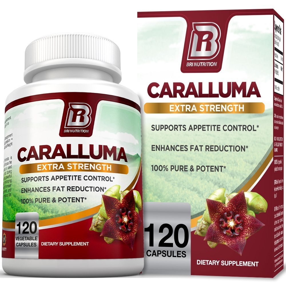 BRI Nutrition Caralluma Fimbriata - Natural Appetite Suppressant & Weight Loss Diet Pills - 1000mg,