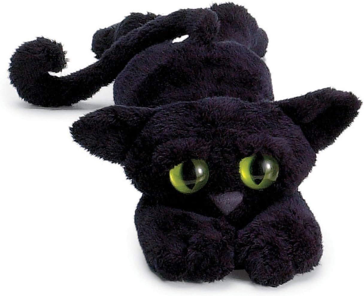 Manhattan Toy 104140 Lanky Cats - Peluche de gato, color negro