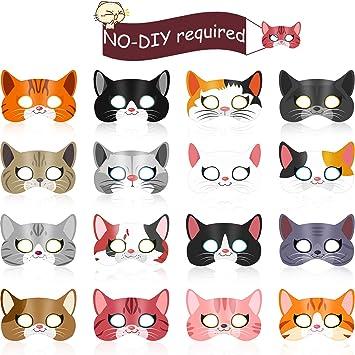 Amazon.com: Blulu 16 piezas de gatitos temáticos para fiesta ...