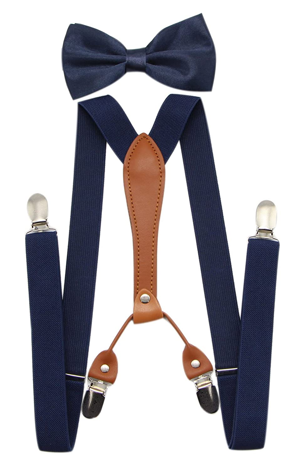 Men's Vintage Style Suspenders JAIFEI Suspenders & Bowtie Set- Mens Elastic X Band Suspenders + Bowtie For Wedding Formal Events $10.99 AT vintagedancer.com