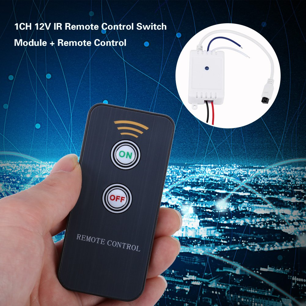 Yosoo 1ch 12v Infrared Remote Control Module Ir Wirless Switch Receiver On Off Relay Home Audio Theater