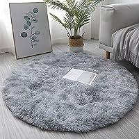 Rugs Super Soft Indoorround Gradient Carpet Faux Fur Fluffy Rug Anti-Skid Shaggy Bedside Carpets Sofa Mats Floor Carpet…