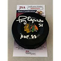 $97 » Autographed Tony Esposito Hockey Puck - Official Hawks - JSA Certified - Autographed NHL Pucks