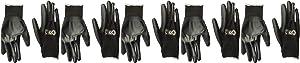 Gorilla Grip Slip Resistant All Purpose Work Gloves 5 Pack