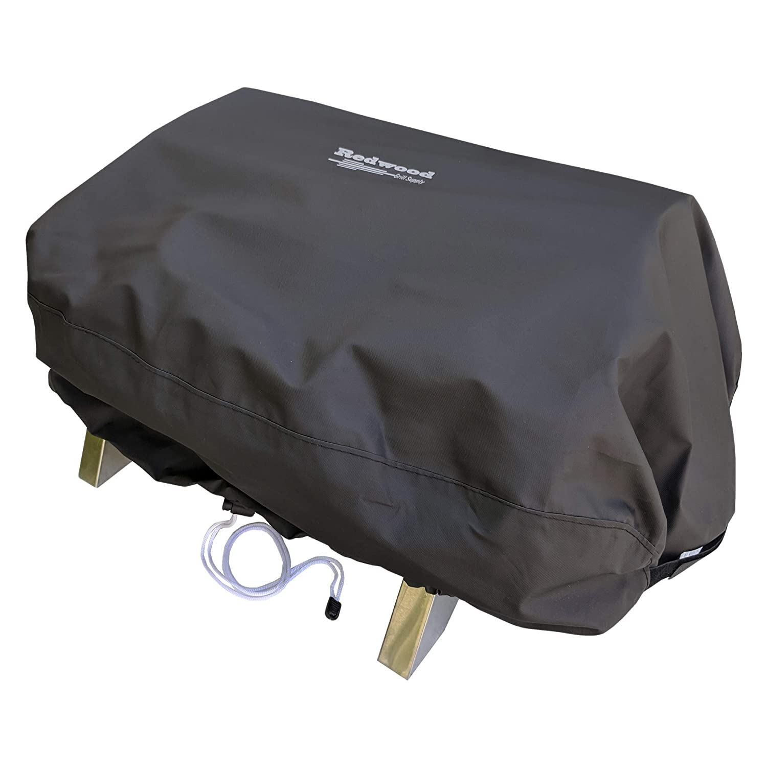Grill Cover for Smoke Hollow 205 - Outdoor Use, Heavy Duty, Waterproof, Drawstring Design by Redwood Grill Supply