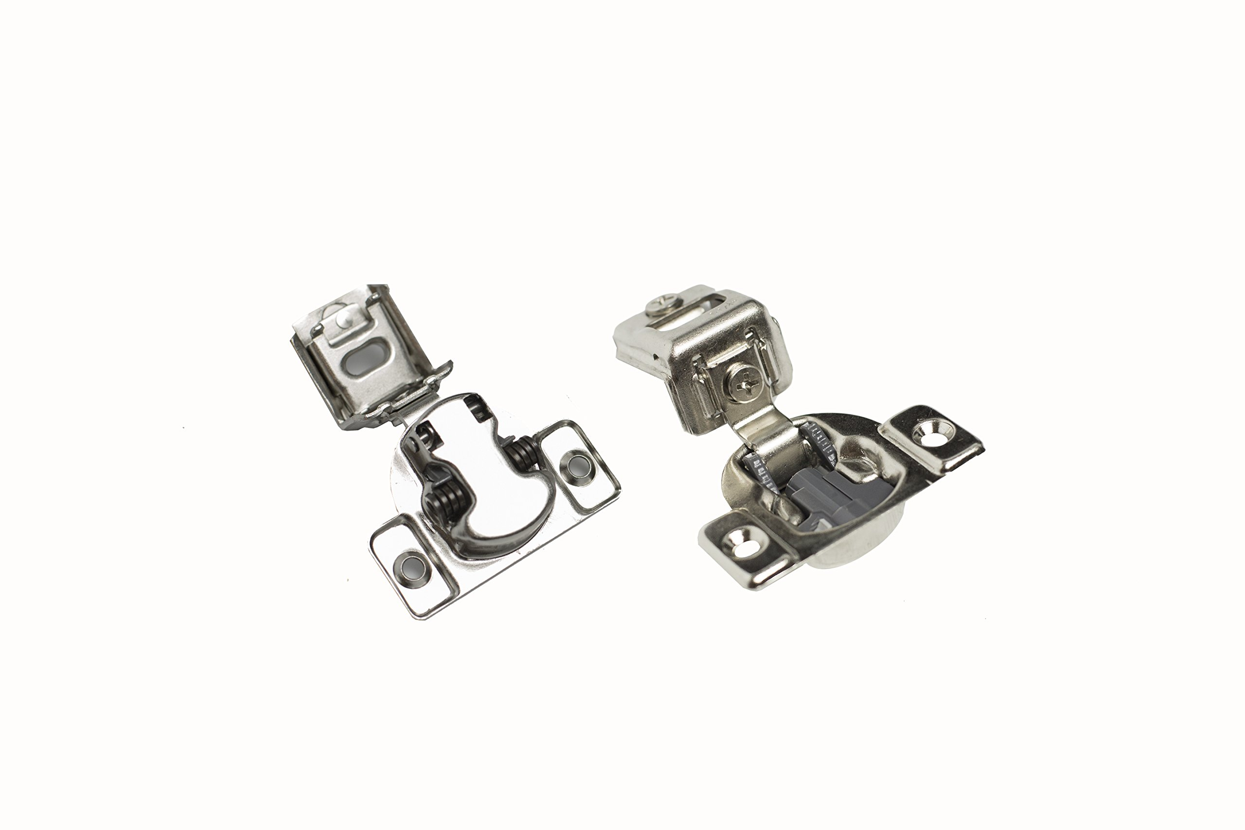 Comet Pro Hardware E55 1-1/4'' Compact Soft Close Face Frame Cabinet Door Hinges Full Overlay Nickel Plated, Screws are Included (40 Pack) by Comet Pro Hardware (Image #3)