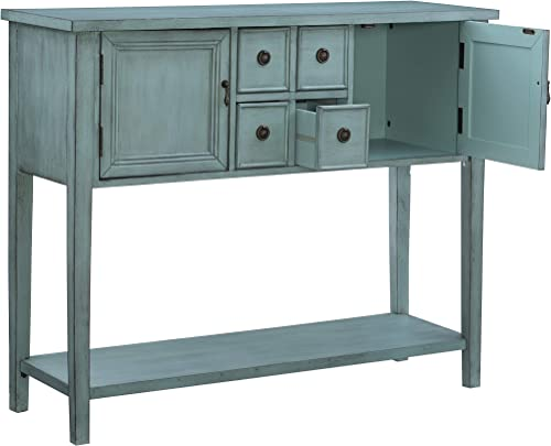 Powell Furniture Duplin Console, Small, Blue
