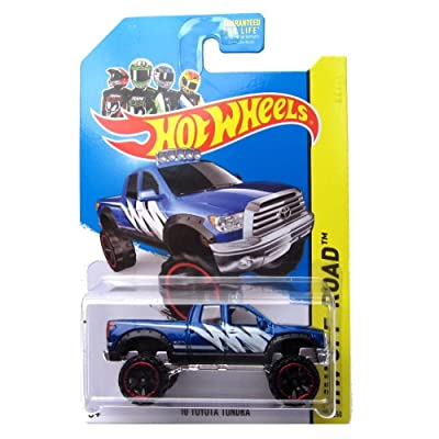 Hot Wheels 10 Toyota Tundra 2014 131/250 (Blue) Vehicle HW Off-Road: Toys & Games