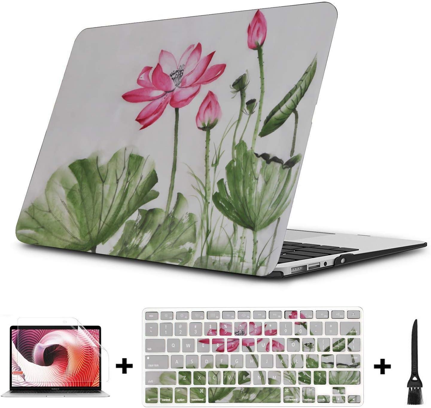 MacBook Accessories Summer Hangzhou Western Lake Lotus Plastic Hard Shell Compatible Mac Air 11 Pro 13 15 MacBook Accessories Case Protection for MacBook 2016-2019 Version
