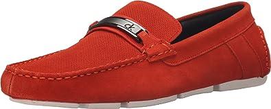 Calvin Klein Men's Marcell Red/Orange Perf Suede 8 ...