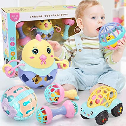 ZaiQu Children's Educational Toys 0-1 Years Old Baby Multi-Function Rattle  Baby 3