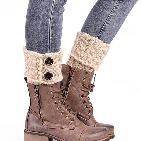 PIXNOR Pata arranque de los puños tejer calcetines calentadores bota cubierta mantenga caliente calcetines (Beige): Amazon.es: Bricolaje y herramientas