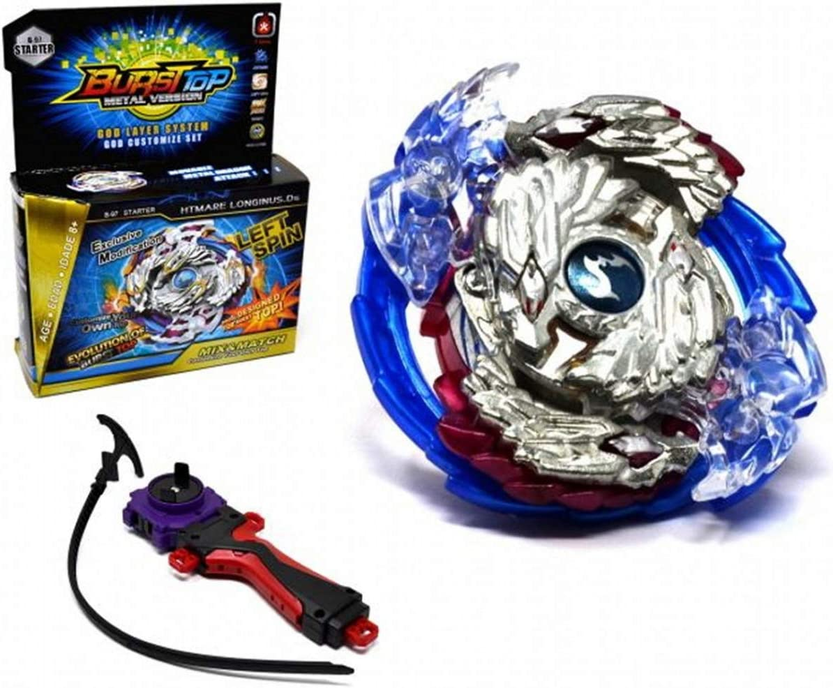 VENTURA TRADING Burst-Top Arena Bey burst blade Arena Stadium and 2 blades spinning Top Toy with Hand Launchers arena stadium bey