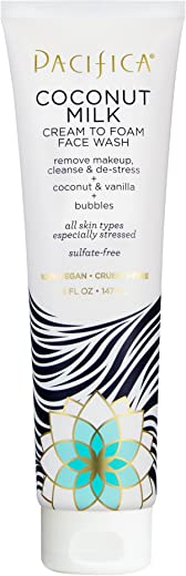 Pacifica Beauty Coconut Milk Cream to Foam Face Wash, 5 Fluid Ounce