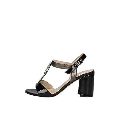 Melluso S535 Sandales Femme Noir Noir - Chaussures Sandale Femme