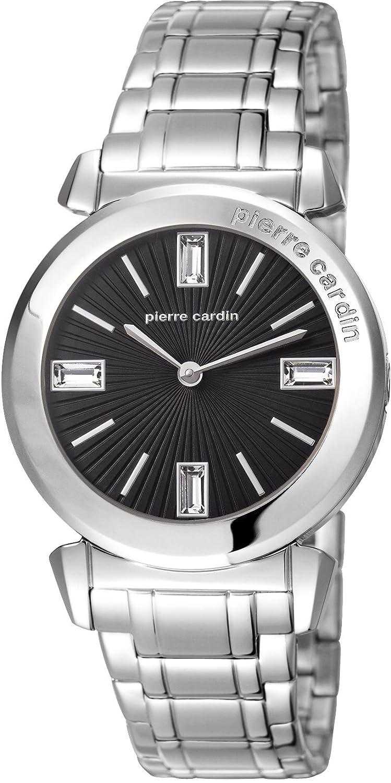 Pierre Cardin Damen-Armbanduhr Bordeaux Analog Quarz Edelstahl PC106252F06