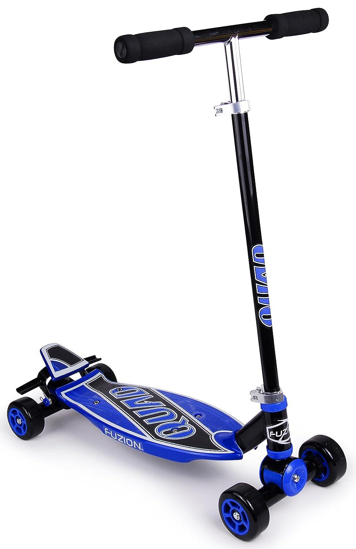Amazon.com: Fuzion Quad 4 Wheel Carving Kids Scooter: Sports ...