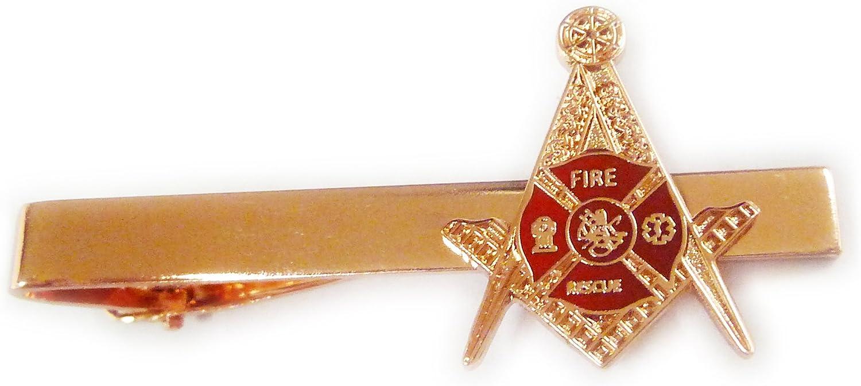 Firefighter Fire Fighter Fireman Paramedic Masonic Freemason Tie Bar Clip