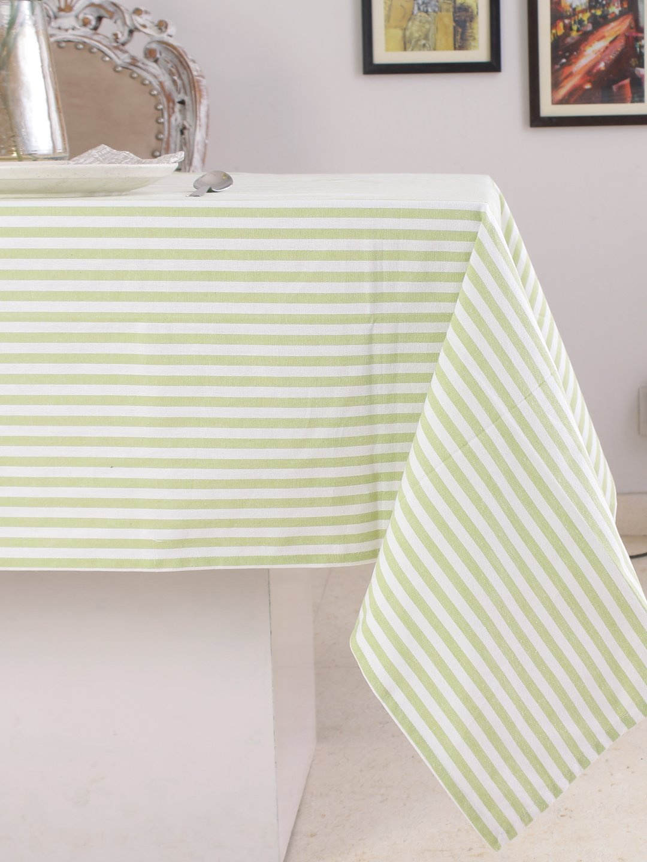 Cotton Table Runner (13 X 72 Inches), Black & White Stripe - 1