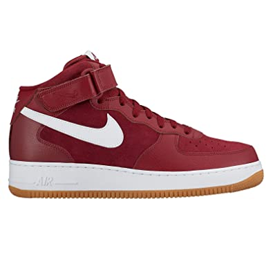 Mens Nike Air Force 1 Mid Sneakers New, Burgundy / Team Red 315123-608