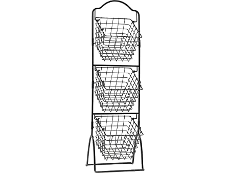 Wire 3 Tier Stand | Mikasa Gourmet Wire 3 Tier Market Storage Basket 1 2 M 4 Ft