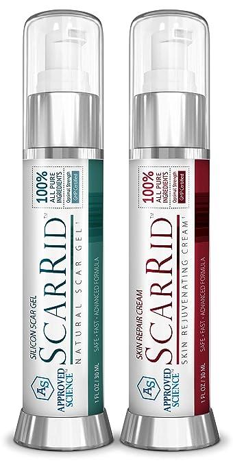 ScarRid (3 Gel + 3 Cream) : Effective Scar Removal Treatment, Skin Repair &  Skin