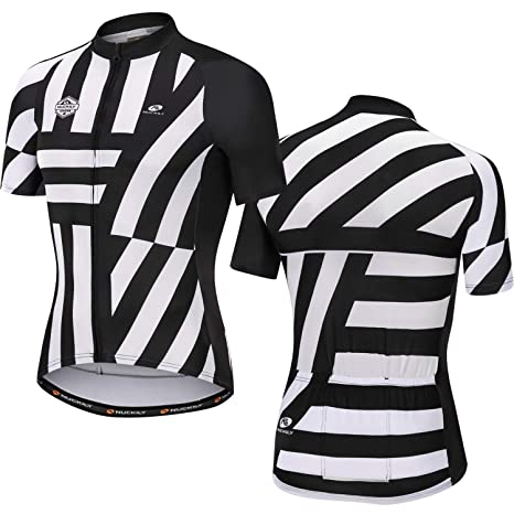 Image Unavailable. Image not available for. Color  NUCKILY Men s Short  Sleeve Cycling Jersey ... 89805bb84