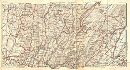 Map Of France Near Geneva.Amazon Com France Bourg Nantua Morez Gex Geneve Geneva 1924