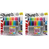 Sharpie Color Burst KPHuP Permanent Markers, Fine Point, Assorted Colors, 24 Count (2 Pack)